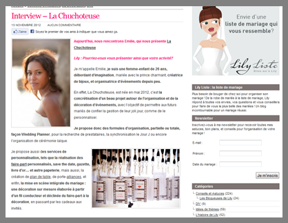 Interview La Chuchoteuse